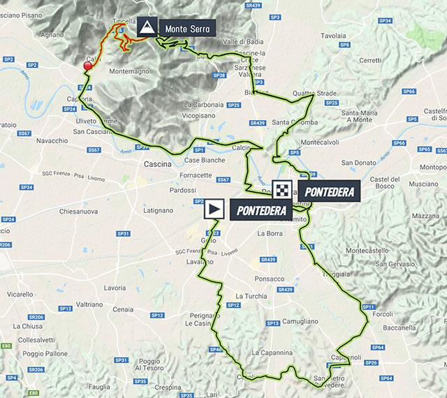 Giro della Toscana 2018 – Recorrido