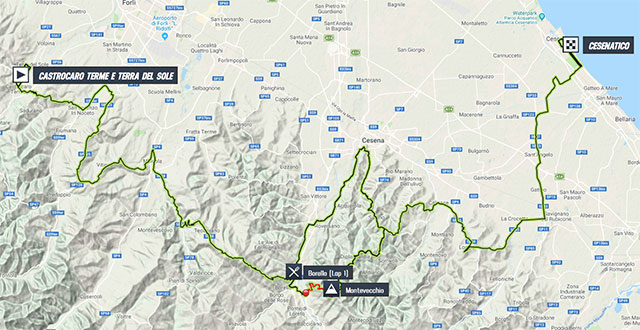 Memorial Marco Pantani 2018 – Recorrido