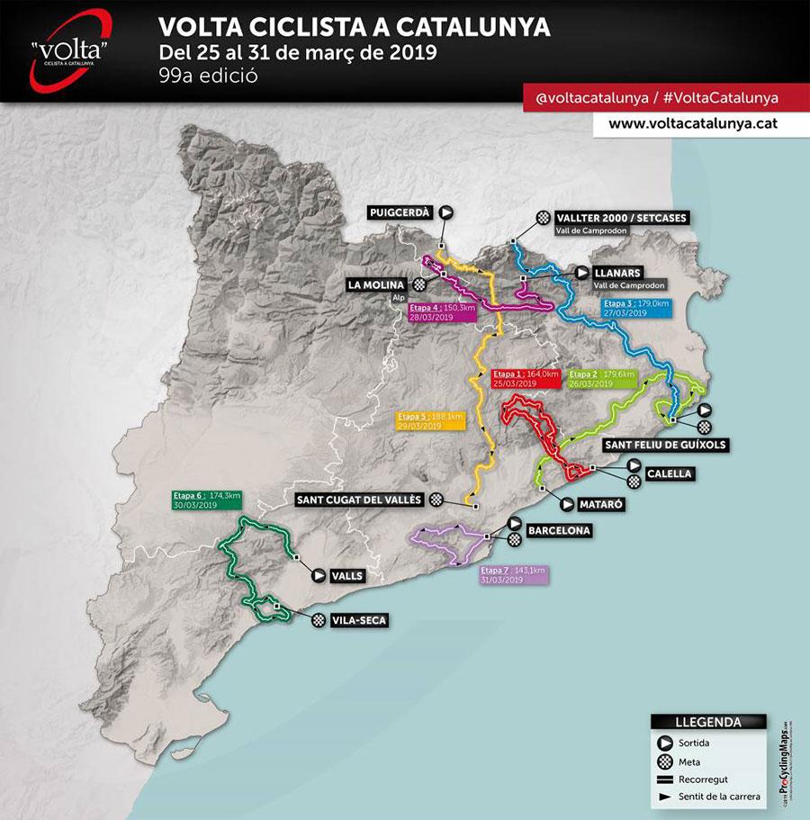 Volta a Catalunya 2019 - Recorrido