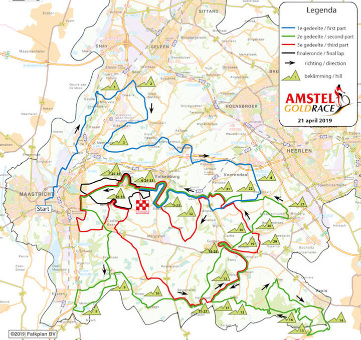 Amstel Gold Race 2019 – Recorrido