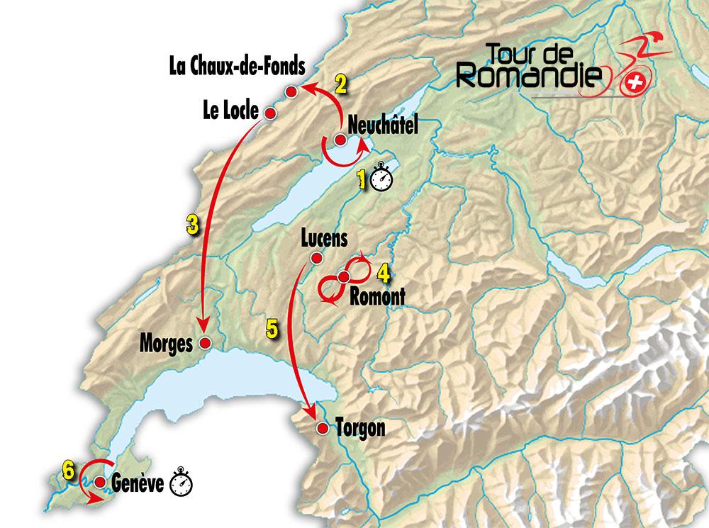 Tour de Romandía 2019 – Recorrido
