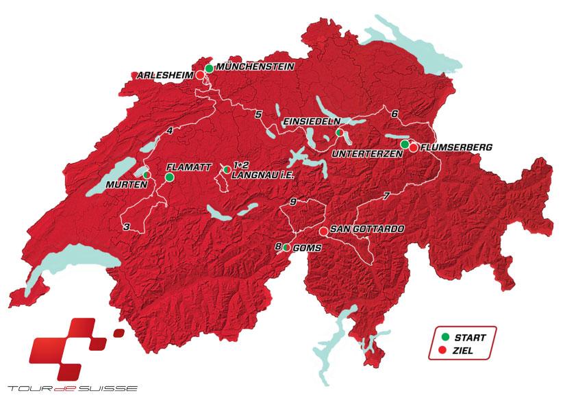 Tour de Suiza 2019 - Recorrido