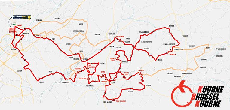 Kuurne-Bruselas-Kuurne 2020 – Recorrido