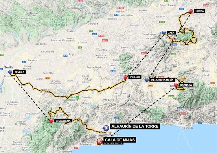 Recorrido de la Vuelta a Andalucía 2020