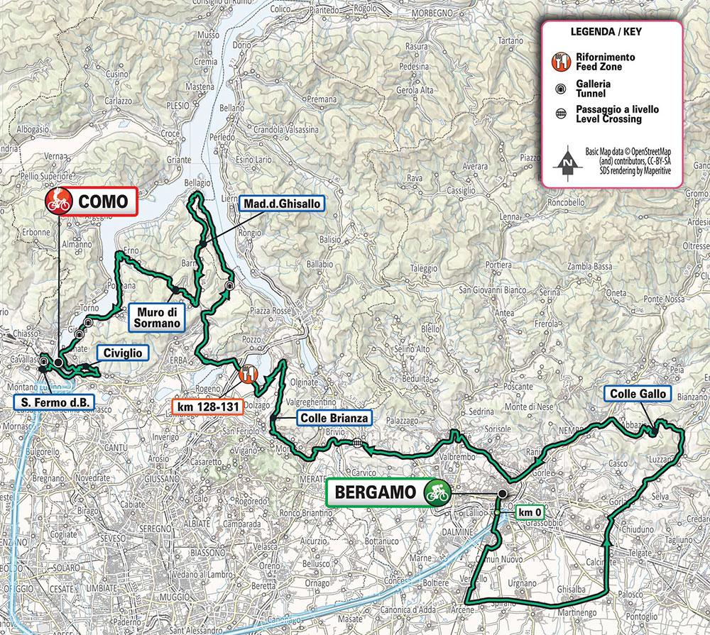Giro de Lombardía 2020 – Recorrido