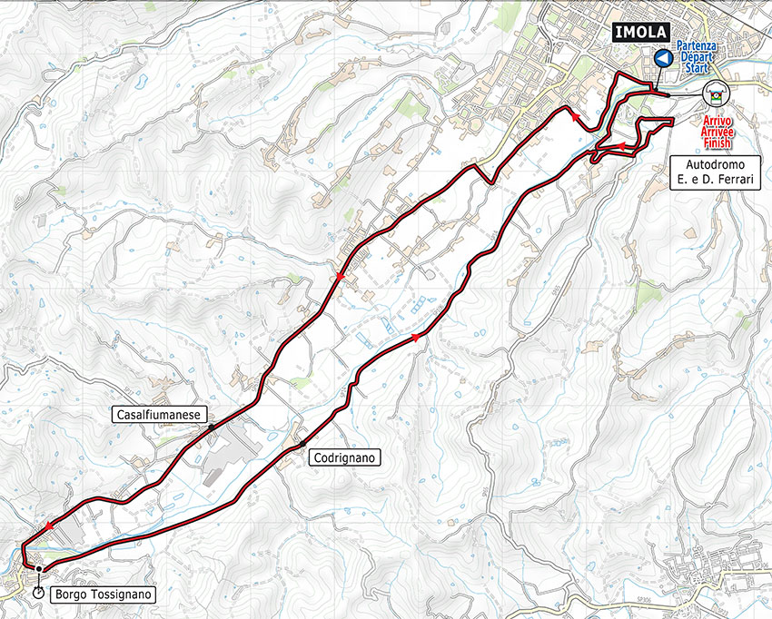 Mundial de Ciclismo UCI 2020 - Recorrido ITT
