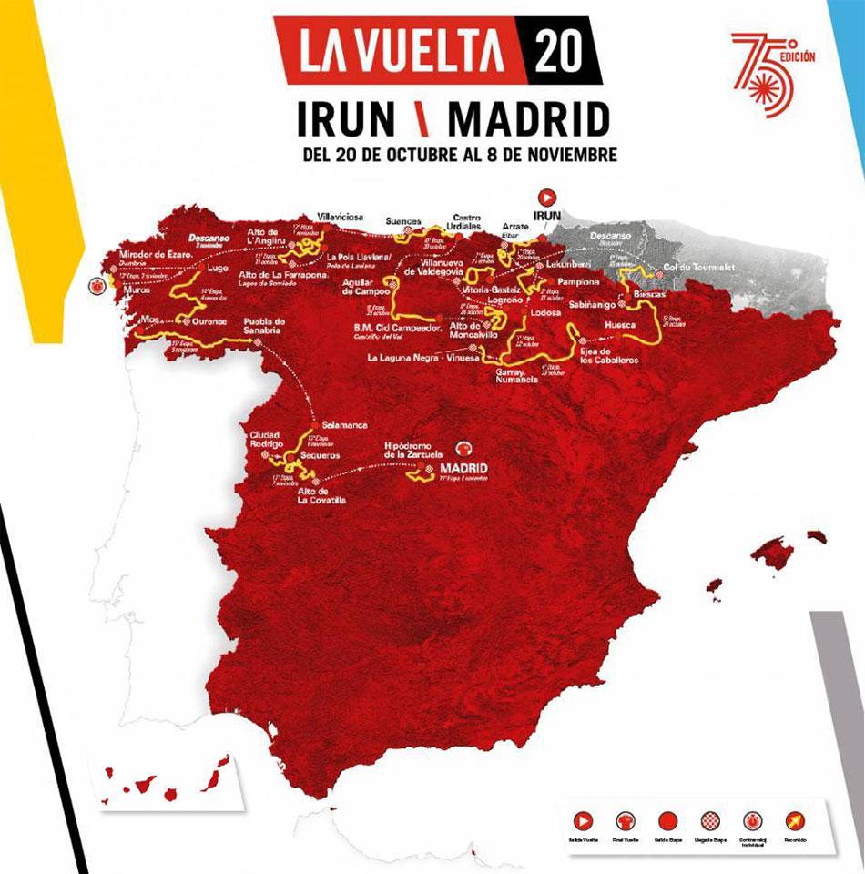 Recorrido de la Vuelta a España 2020