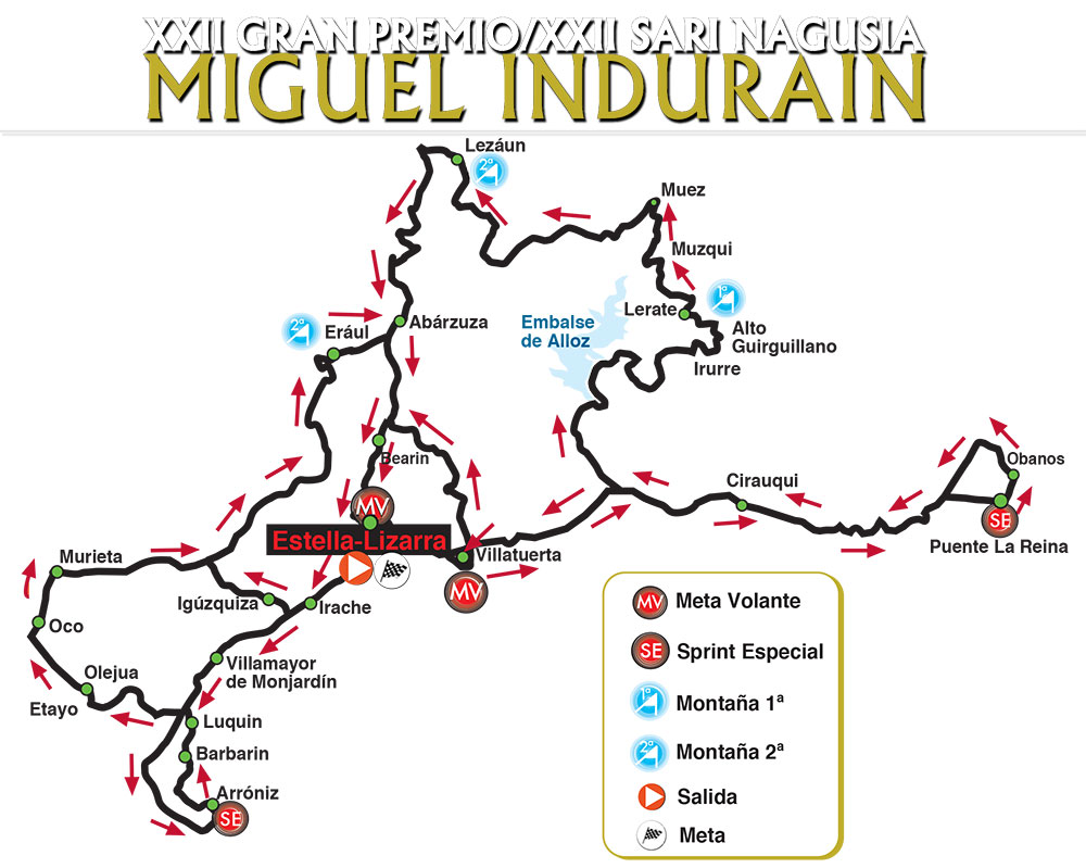 Recorrido del GP Miguel Indurain 2021