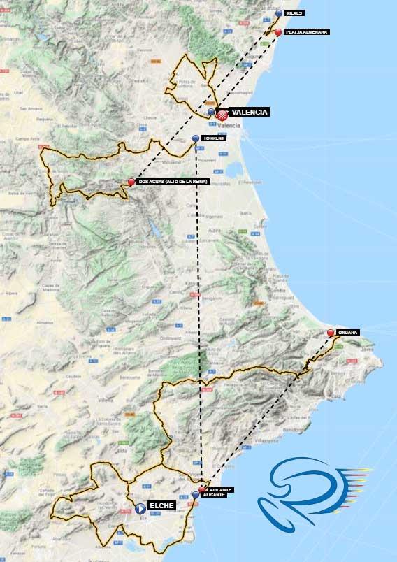 Recorrido de la Volta a la Comunitat Valenciana 2021