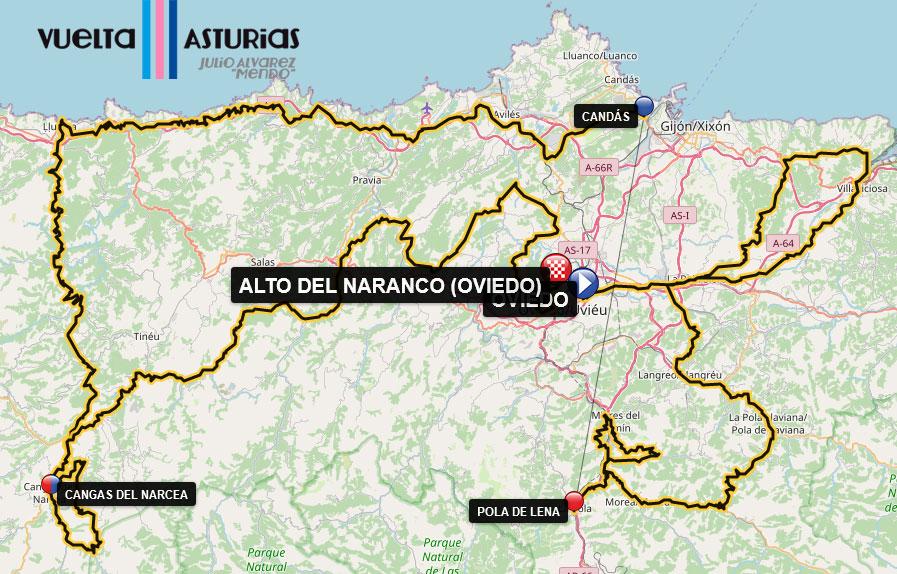 Vuelta Asturias 2021 - Recorrido