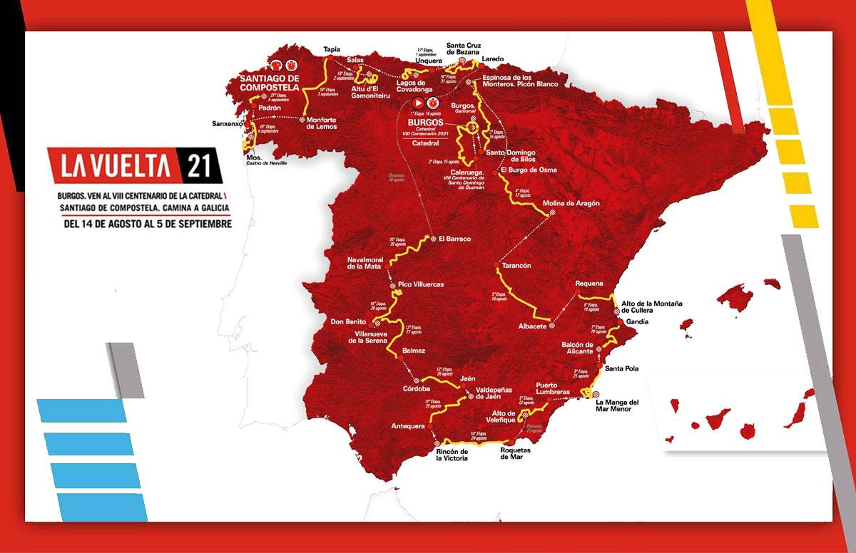 Vuelta a España 2021 - Recorrido