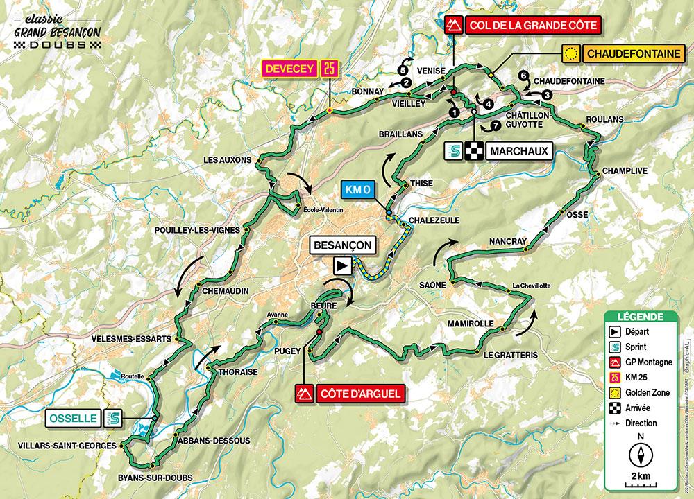 Recorrido de la Classic Grand Besançon 2021