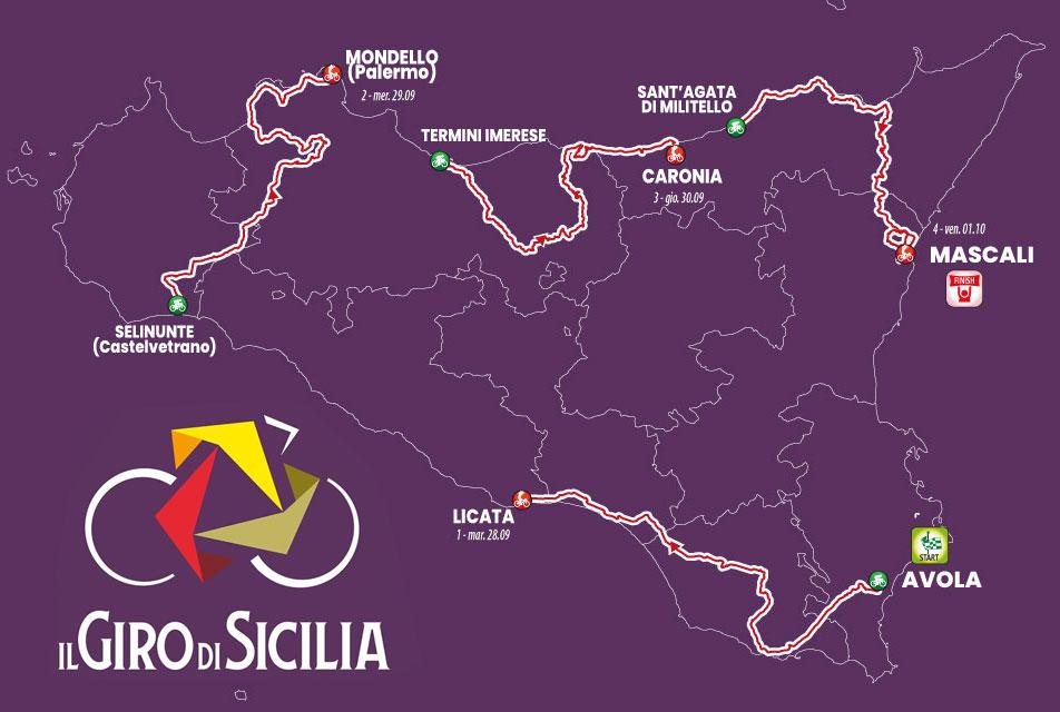 Giro di Sicilia 2021 - Recorrido