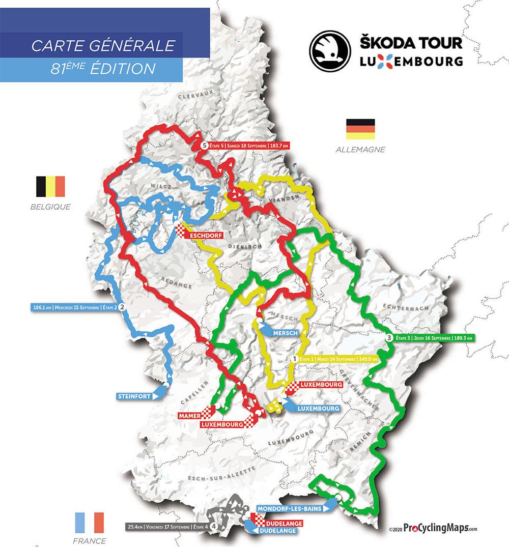 Recorrido del Tour de Luxemburgo 2021