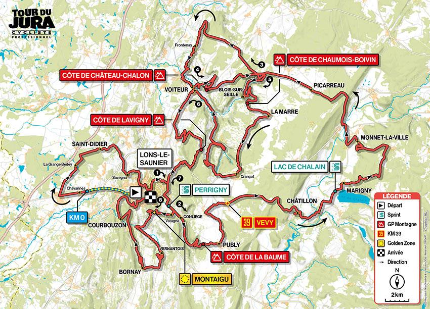 Tour du Jura 2021 - Recorrido