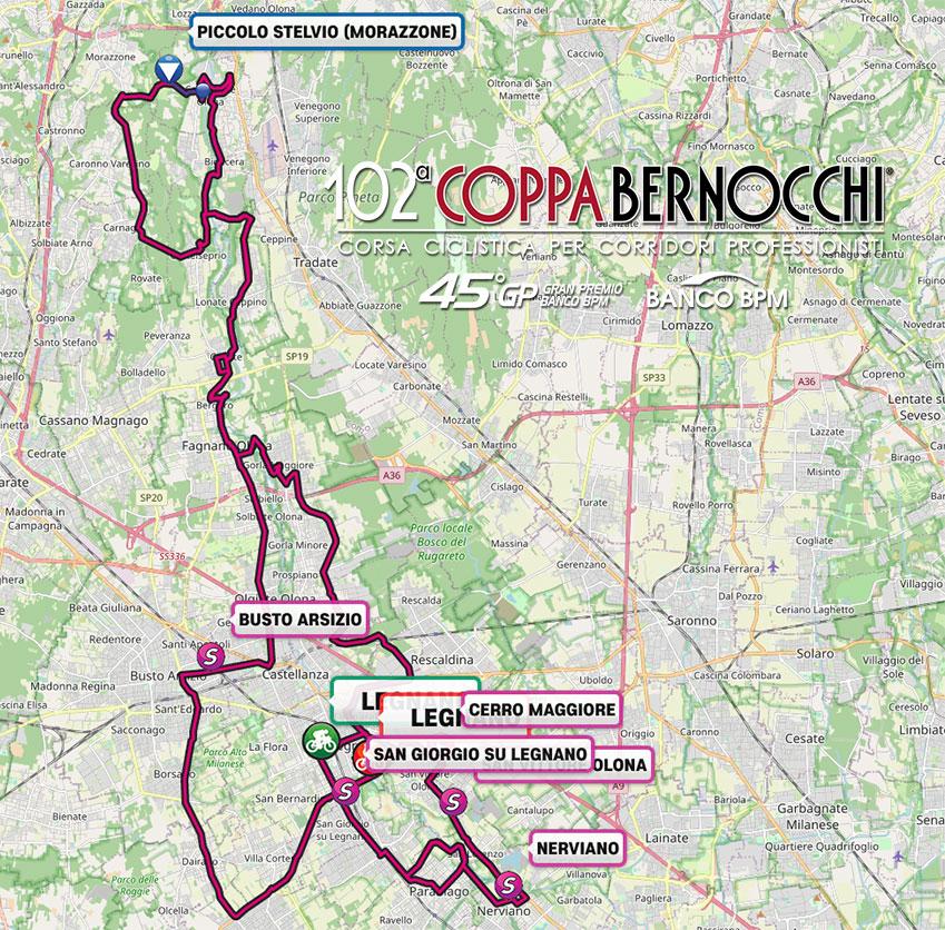 Coppa Bernocchi 2021 – Recorrido