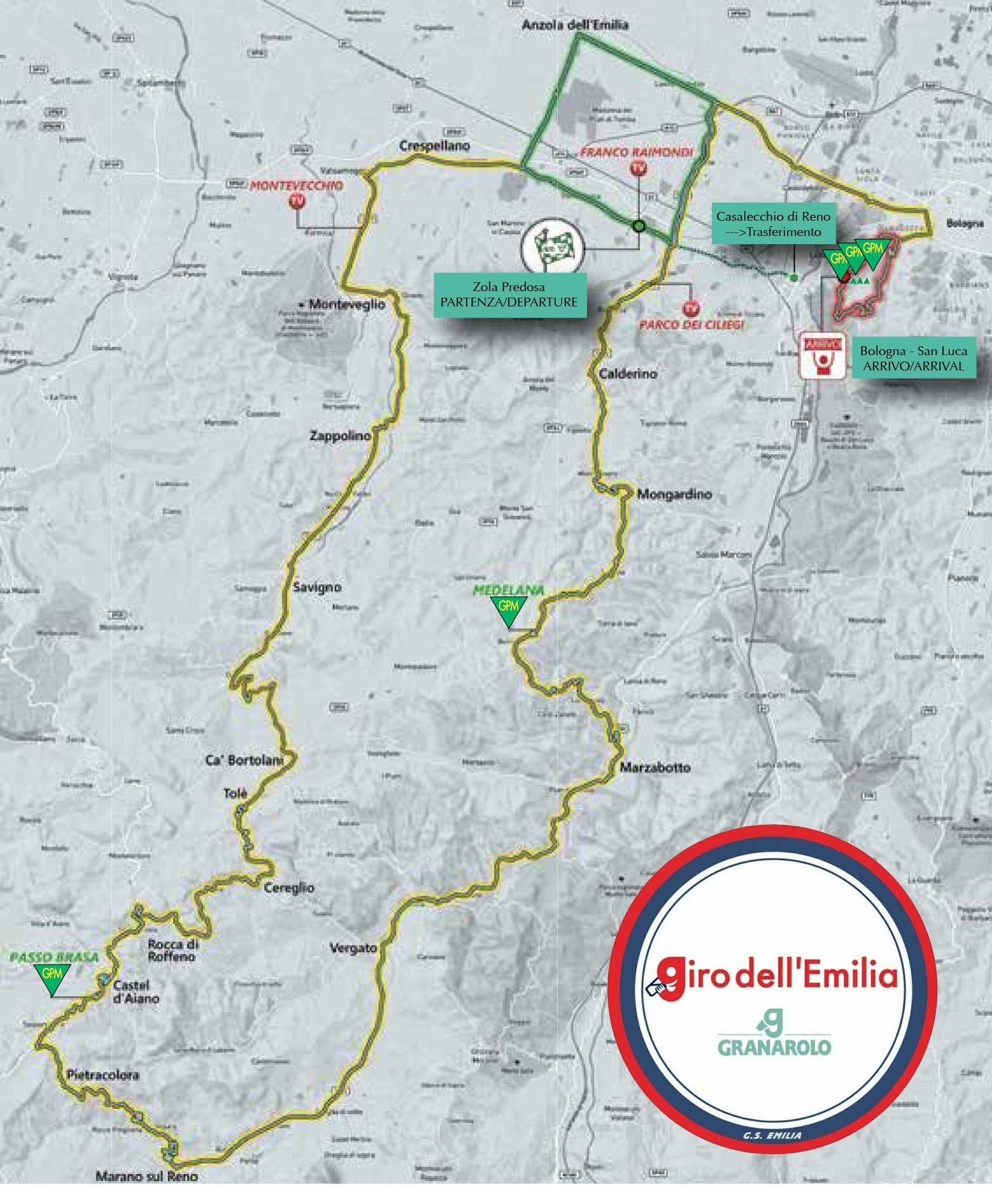 Giro dell'Emilia 2021 - Recorrido